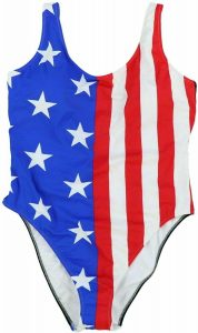 American Flag One Piece Swimsuits