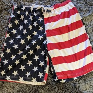 American Flag Swimming Trunks