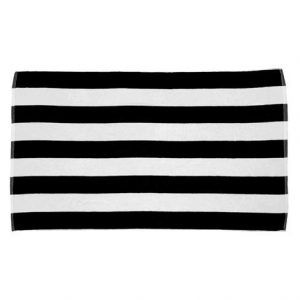 Black And White Striped Beach Towels