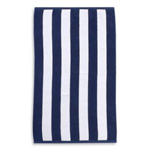 Blue And White Striped Beach Towels