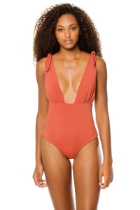 Deep Plunge One Piece Swimsuits