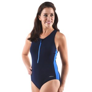 Front Zip One Piece Swimsuits