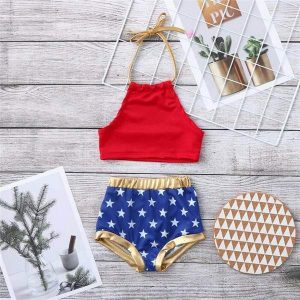 Girls 4th Of July Swimsuits