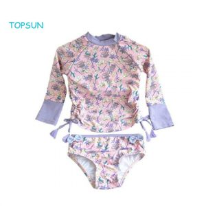 Girls Rash Guard Swimsuits Set