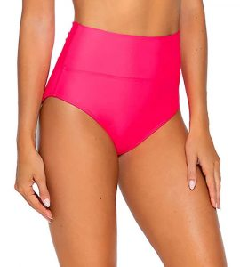 Hot Pink High Waisted Swimsuits