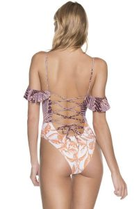 Lace Up Back One Piece Swimsuits