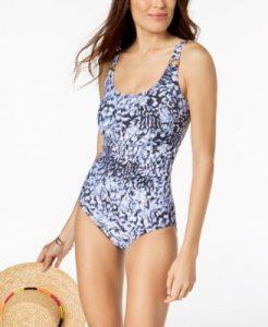 Macy's Black One Piece Swimsuits