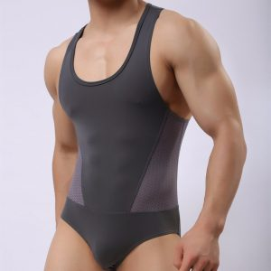 Men Wearing One Piece Swimsuits