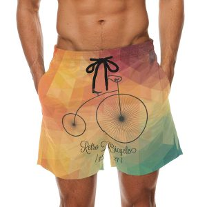 Mens Retro Swimming Trunks