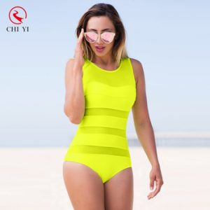 Neon Green One Piece Swimsuits