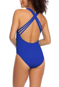 One Piece Swimsuits Criss Cross Back