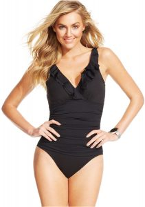 One Piece Swimsuits With Ruffles