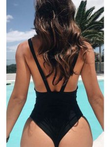One Piece Thong Swimsuits Plus Size