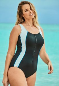 One Piece Zipper Front Swimsuits