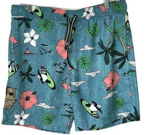 Pink Flamingo Swimming Trunks