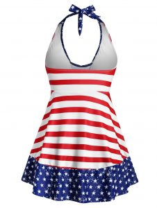 Plus Size American Flag Swimsuits