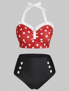 Polka Dot Swimsuits Plus Size