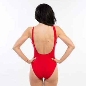 Red One Piece Lifeguard Swimsuits