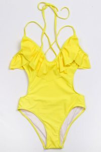 Ruffle Top One Piece Swimsuits