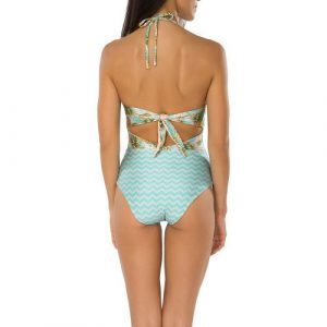 Tie Back One Piece Swimsuits