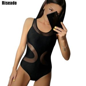 Women's Mesh One Piece Swimsuits