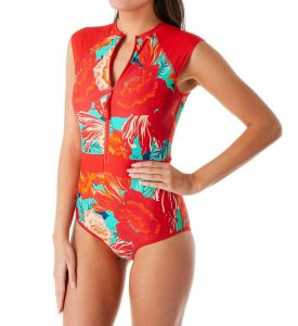 Zip Front One Piece Swimsuits